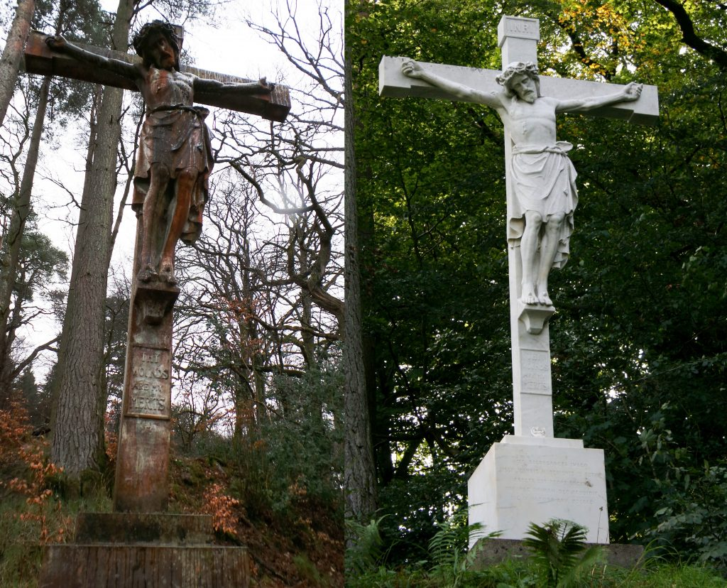 Crucifix before and after