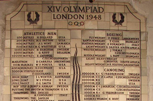 Olympic Plaques, Wembley