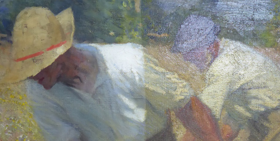 Conservation of Two Oil Paintings: Clausen & Warrener for Usher Gallery, Lincoln
