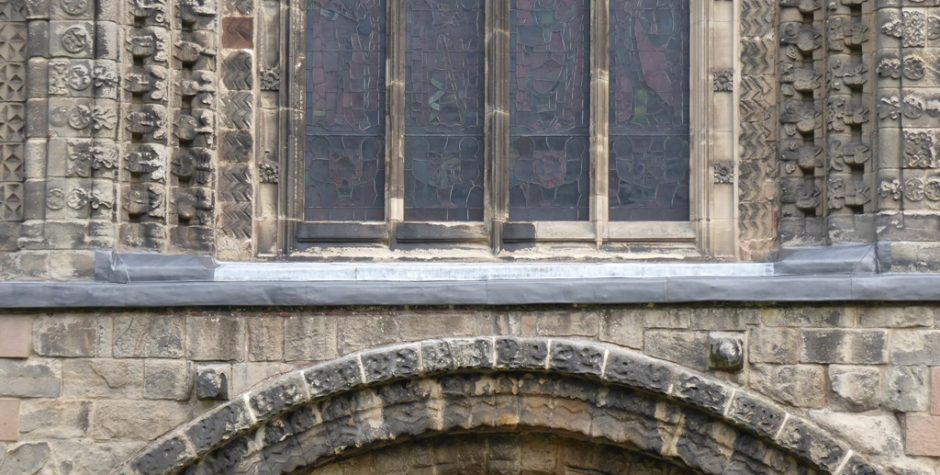 Tutbury, Priory Church of St Mary, Alabaster Archivolt